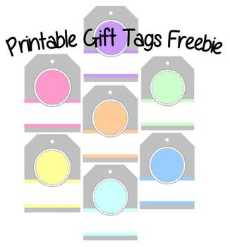 Printable Gift Tags Freebie