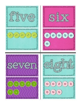 Printable Glitter Wall Numbers 0-10 (w/numeral, word, & symbolic representation)