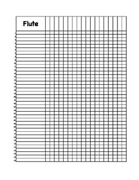 Printable Grade Book for Band