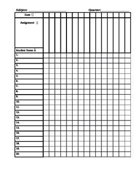 Printable Grade book