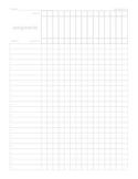 Printable Gradebook Sheet--Gray