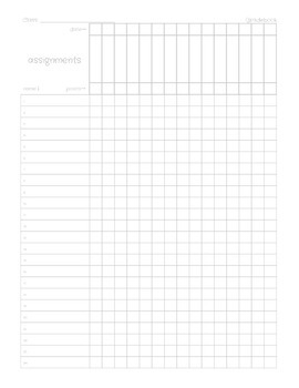 Printable Gradebook Sheet--Gray