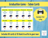 Printable Graduation Taboo Cards Graduation Game High School Graduation