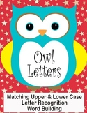 Printable Grammar Assorted Activities - Owl Letters Upper & Lower Case