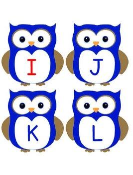 Printable Grammar Assorted Activities - Owl Letters Upper & Lower Case