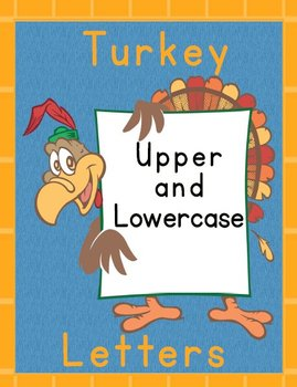 Printable Grammar  Activities - Turkey Alphabet Upper & Lower Case Letters