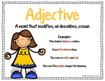 Printable Grammar Poster and Activities