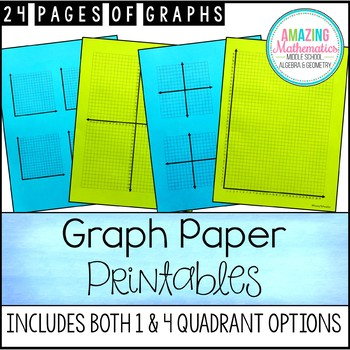 Printable Graph Paper, Graphs, and Coordinate Grids by Amazing ...