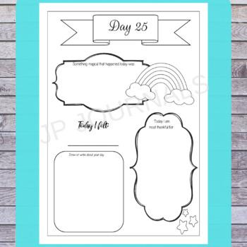 Printable Gratitude Journal and Coloring Book (31 Days of Magical Gratitude)