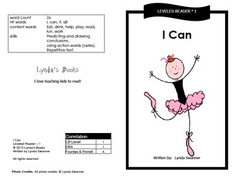 Printable Guided Reading Books- Level 1 DRA