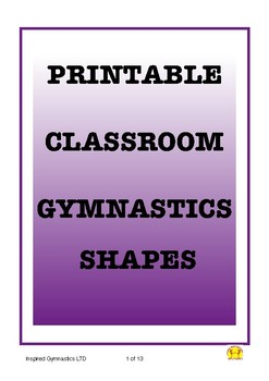 Printable Gymnastics Shapes for your classroom