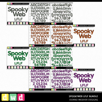 Printable Halloween Alphabet SPOOKY WEB LFLF BUNDLE Letters Numbers
