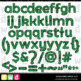 Printable Halloween Alphabet SPOOKY WEB LFLF GREEN Letters Numbers