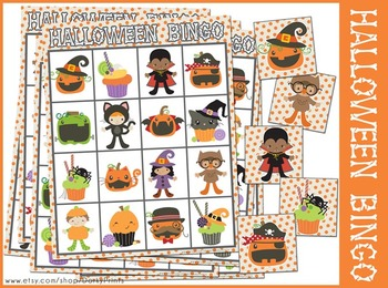 graphic relating to Printable Halloween Bingo named Printable Halloween Bingo Match
