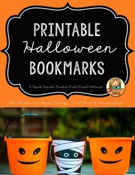 Printable Halloween Bookmarks/ Halloween Gift Tags {Spook-tacular Freebie!}