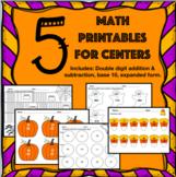 Printable Halloween Math Centers