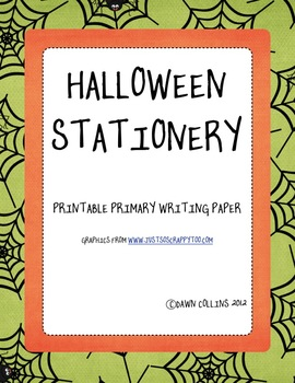 graphic about Halloween Stationery Printable known as Printable Halloween Stationary