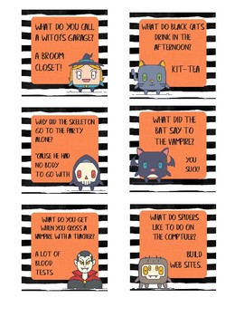 Printable Halloween Themed Lunch Box Notes