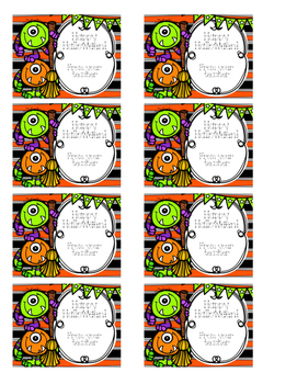 picture regarding Printable Halloween Labels named Printable Halloween Handle Bag Labels
