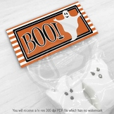 Printable Halloween Treat Bag Toppers - Halloween Ghost Party Favor Bag Topper