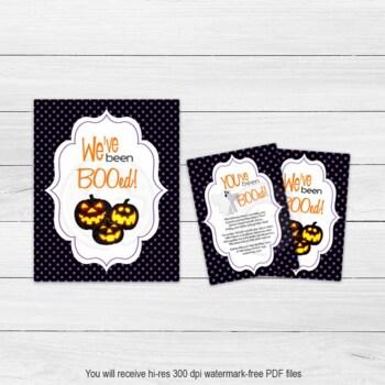 picture regarding Boo Printable identified as Printable Halloween Weve Been BOOed Indicator, Halloween Boo Recreation Down load