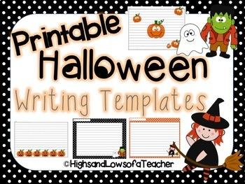 Printable Halloween Writing Paper (Templates)