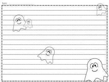 Printable Halloween Writing Paper (Templates)  Printable Writing Paper With Lines