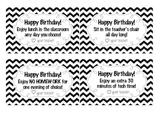 Printable Happy Birthday Coupons for Students -- chevron!
