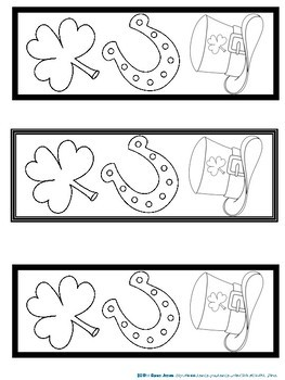 Bookmarks For Students to Color: Saint Patrick's Day