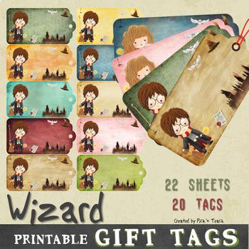 photograph regarding Hogwarts Printable identified as Printable Harry Potter / Hogwarts themed present tags