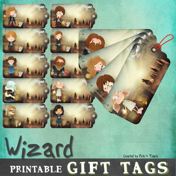Printable Harry Potter themed gift tags