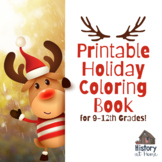 Printable Holiday Coloring Book for 9-12th Grades FREE