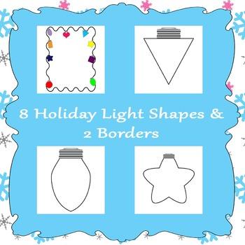 Printable Holiday Lights Shapes
