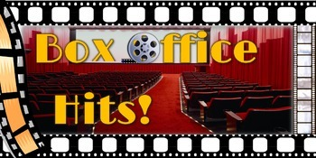 11x17 Printable Hollywood Themed Box Office Hits Poster