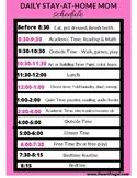 Printable Home School Schedule