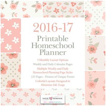 Printable Homeschool Planner - 2016-17 Academic Year - Pin