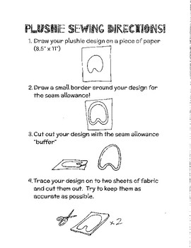 """Printable """"How To Sew Plushie"""" step-by-step"""