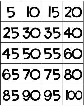 Printable Hundred Chart Cards Freebie