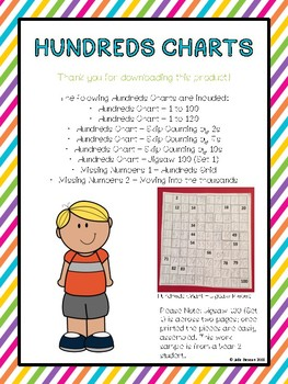 Printable Hundreds Charts and Activities