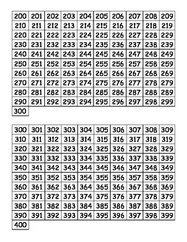Printable Hundreds Charts 0 1000 By Mrs D Teaches Third Tpt