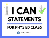 Printable I Can Statements for PE Class
