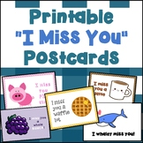 "Printable ""I Miss You"" Postcards for Students--Distance Learning"