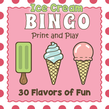 Printable Ice Cream Bingo Game