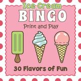 Printable Ice Cream Bingo Game