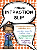 Printable: Infraction Slip