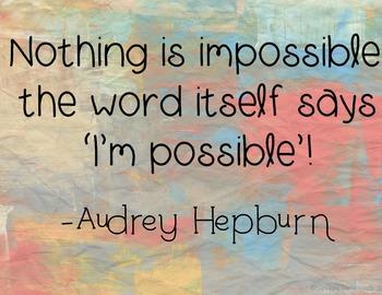 Printable Inspirational Quote - Audrey Hepburn