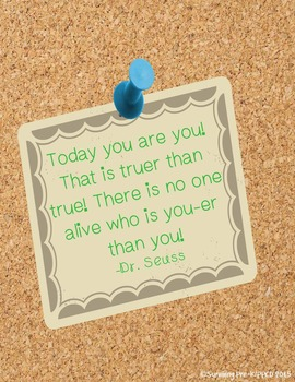Printable Inspirational Quote - Dr. Seuss