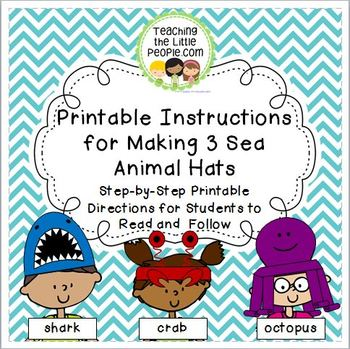 Printable Instructions for Students to Follow to Make 3 Se