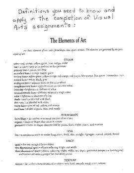 Printable Intermediate Art Lessons