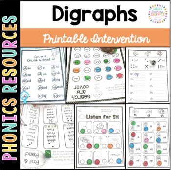 Digraphs sh ch th Printable Intervention